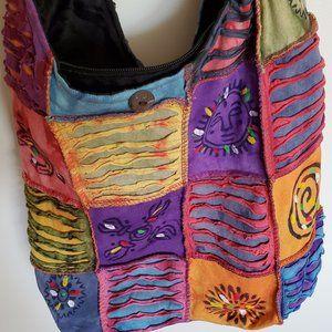 Rising International Hobo Patchwork Distressed Bag
